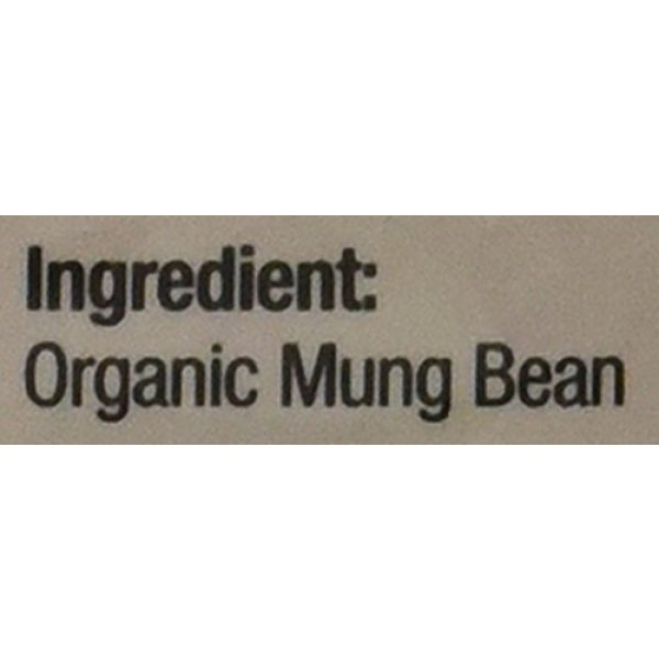 Chimes Garden Organic Seed 4 Chimes Garden Organic Mung Beans for Sprouting, Asian Cuisine & More, 16-Ounce Pouches