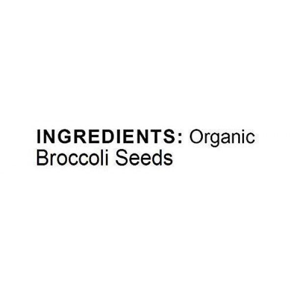 Food to Live Organic Seed 3 Organic Broccoli Seeds for Sprouting by Food to Live (Non GMO, Kosher, Bulk) 1 Pound