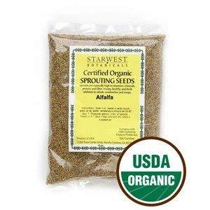 Starwest Botanicals  1 Alfalfa Sprouting Seeds Organic