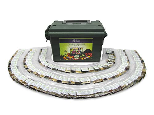 VictoryGardens  1 125 Variety XP Heirloom Seed Vault - Premium 100% Non GMO