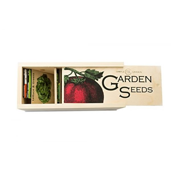 Simple Quality Seed Storage Box 3 Seed Storage Container and Organizer Box for Your Garden Seed Packets - Tall Size -11.75 L 5.1 Wide 6.5 H - Expertly Crafted in The U.S.A. with Vintage Heirloom Style Divider Cards to Organize Seeds