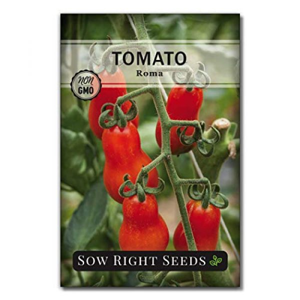Sow Right Seeds Heirloom Seed 1 Sow Right Seeds - Roma Tomato Seed for Planting - Non-GMO Heirloom Packet with Instructions to Plant a Home Vegetable Garden - Great Gardening GIF (1)