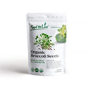 Food to Live Organic Seed 1 Organic Broccoli Seeds for Sprouting by Food to Live (Non GMO, Kosher, Bulk) 1 Pound