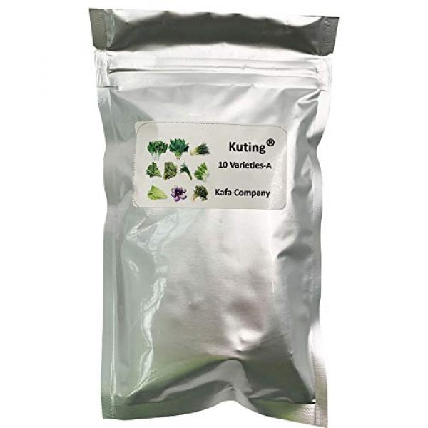 Kuting Organic Seed 2 Garden Vegetable Green Organic Chinese Seeds 10 Different Varieties Qty 5000+ for Planting Outside Door for Cooking Dish Soup Taste Good Delicious 100% Non-GMO by Kuting (10 Varieties-A)