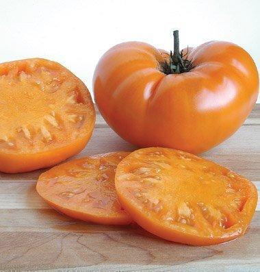 David's Garden Seeds  1 David's Garden Seeds Tomato Beefsteak Brandywine Yellow SL7146 (Orange) 50 Non-GMO