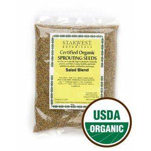 Starwest Botanicals Organic Seed 1 Salad Sprouting Seed Blend Organic