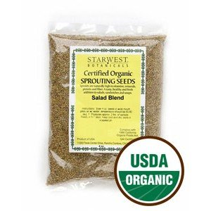 Starwest Botanicals  1 Salad Sprouting Seed Blend Organic