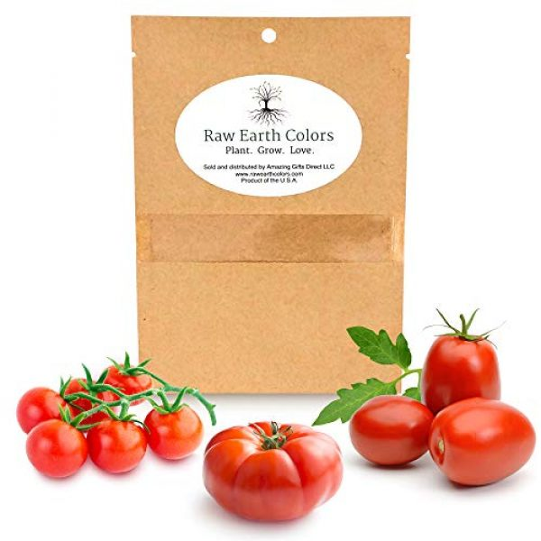 Raw Earth Colors Heirloom Seed 1 Heirloom Tomato Seeds for Planting Home Garden - Cherry - Roma - Beefsteak - Variety Tomatoes Seeds