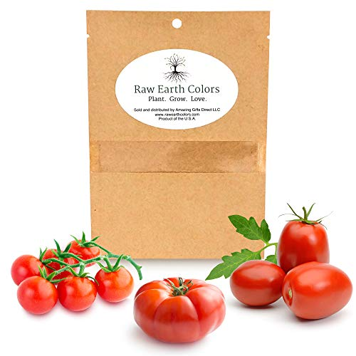 Raw Earth Colors  1 Heirloom Tomato Seeds for Planting Home Garden - Cherry - Roma - Beefsteak - Variety Tomatoes Seeds