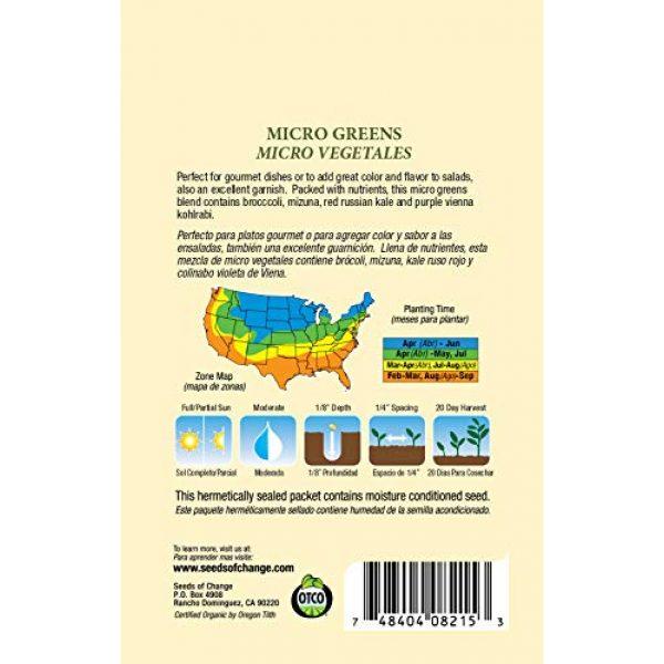 SEEDS OF CHANGE Organic Seed 2 Seeds Of Change 8215 Certified Mild Mix Microgreens, Organic, Seeds, Green