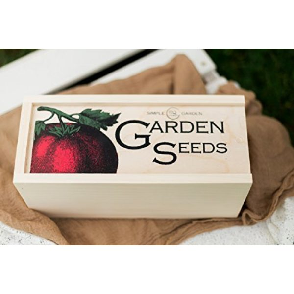 Simple Quality Seed Storage Box 4 Seed Storage Container and Organizer Box for Your Garden Seed Packets - Tall Size -11.75 L 5.1 Wide 6.5 H - Expertly Crafted in The U.S.A. with Vintage Heirloom Style Divider Cards to Organize Seeds