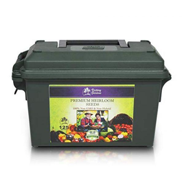 VictoryGardens Heirloom Seed 2 125 Variety XP Heirloom Seed Vault - Premium 100% Non GMO, Non Hybrid, Heirloom Seeds - Packaged for Maximum Shelf Life Storage - Heirloom Vegetable, Herb, and Fruit Seeds.!
