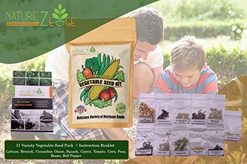 11 Varieties of Heirloom Vegetable Gardening Seeds for Planting