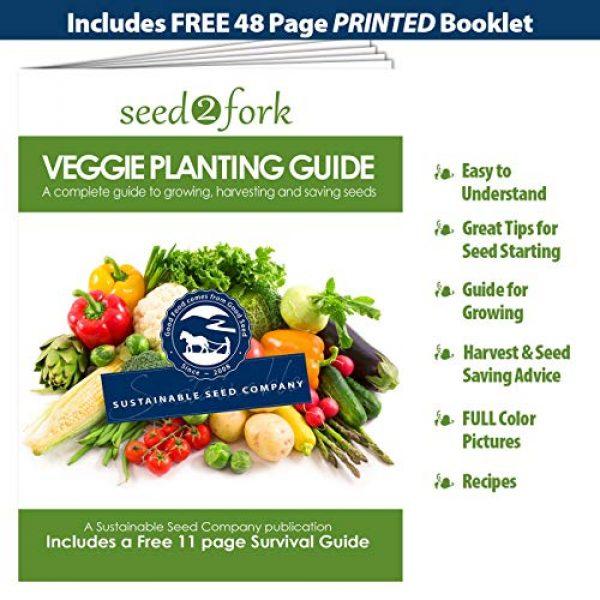 Sustainable Seed Company Heirloom Seed 7 22,000 Non GMO Heirloom Vegetable Seeds, Survival Garden, Emergency Seed Vault, 34 VAR, Bug Out Bag - Beet, Broccoli, Carrot, Corn, Basil, Pumpkin, Radish, Tomato, More
