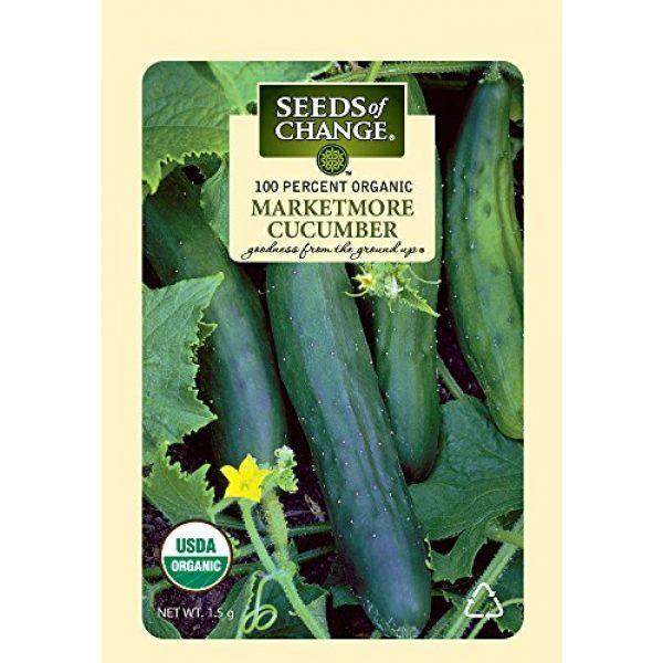 SEEDS OF CHANGE Organic Seed 3 Seeds of Change Certified Organic Marketmore Cucumber