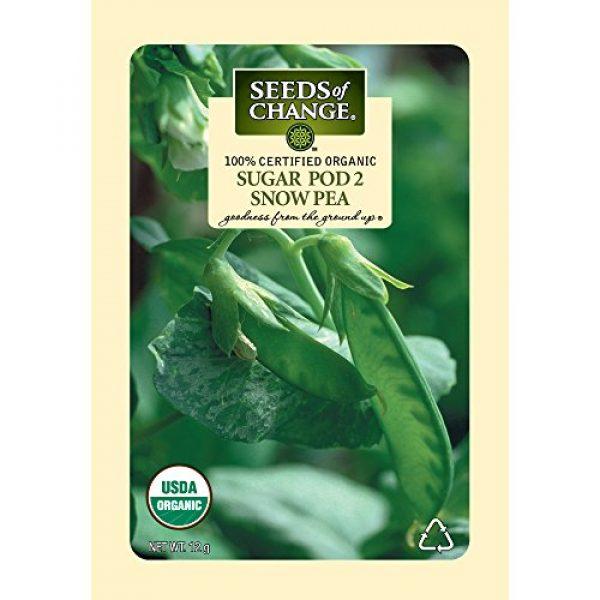 SEEDS OF CHANGE Organic Seed 1 Seeds of Change Certified Organic Seed, Sugar Pod 2 Snow Pea
