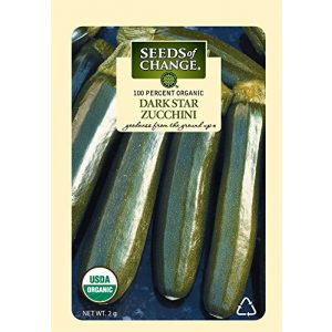 SEEDS OF CHANGE Organic Seed 1 Seeds of Change Certified Organic Dark Star Summer Squash Zucchini