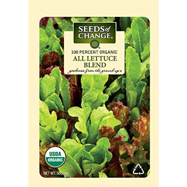 SEEDS OF CHANGE Organic Seed 1 Seeds of Change 05944 Certified Organic Seed, All Lettuce Mix