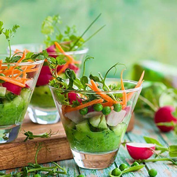 ECOVOO Organic Seed 6 Organic Microgreen Seeds Salad Mix - Non GMO Microgreen Seeds, Sunflower, Mustard, Radish, Red Amaranth, Broccoli - Seeds for Microgreens - Microgreen Organic Seeds - Microgreen Seeds for Sprouting