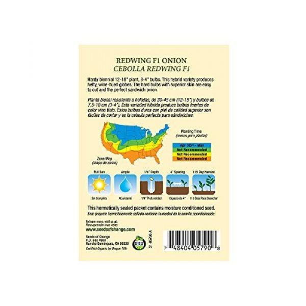 SEEDS OF CHANGE Organic Seed 3 Seeds of Change 05790 Certified Organic Seed, Redwing F1 Onion