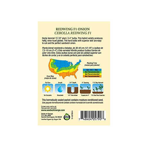 SEEDS OF CHANGE  2 Seeds of Change 05790 Certified Organic Seed