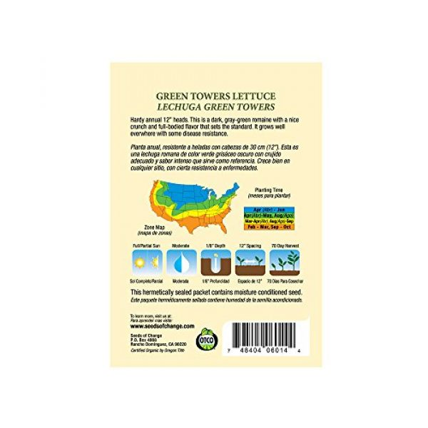 SEEDS OF CHANGE Organic Seed 3 Seeds of Change 05944 Certified Organic Seed, All Lettuce Mix