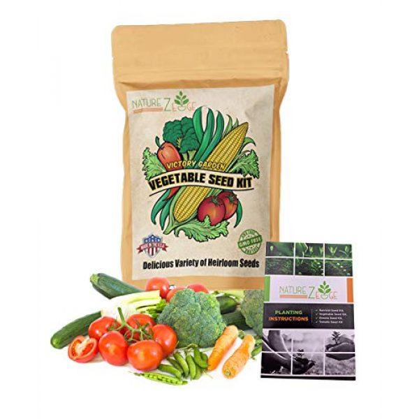 NatureZ Edge Heirloom Seed 1 NatureZ Edge Garden Seeds Vegetable Variety Seed Pack, 11 Varieties of Heirloom Vegetable Gardening Seeds for Planting, 4800+ Seeds for Gardening Vegetables,Non-GMO