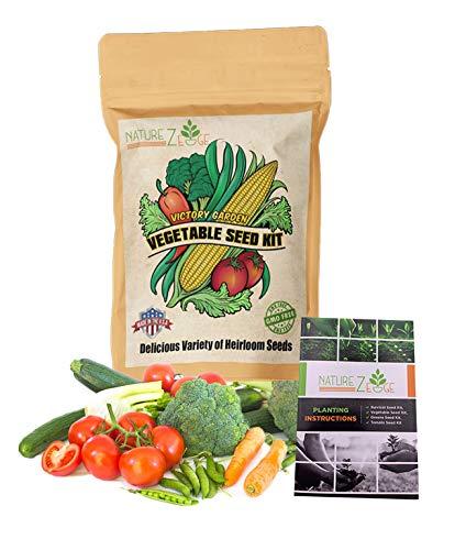 NatureZ Edge  1 NatureZ Edge Garden Seeds Vegetable Variety Seed Pack