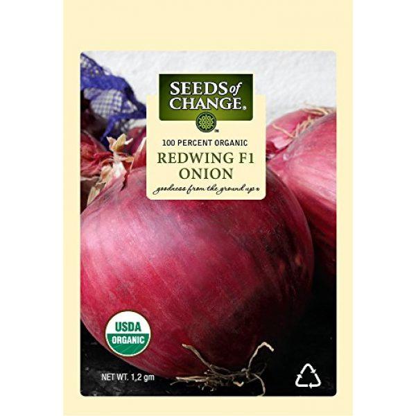SEEDS OF CHANGE Organic Seed 1 Seeds of Change 05790 Certified Organic Seed, Redwing F1 Onion