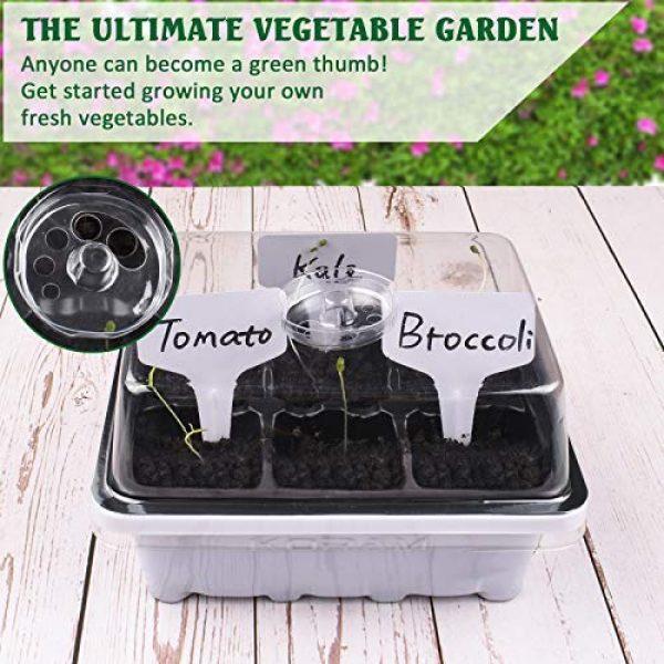 KORAM Organic Seed 5 KORAM Vegetable Garden Starter Kit - 10 Organic Salad Seeds Organic Growing Kit DIY Gardening Starter Set with Everything a Gardener Needs for Growing Tomatoes Broccoli Cucumber for Christmas Gift