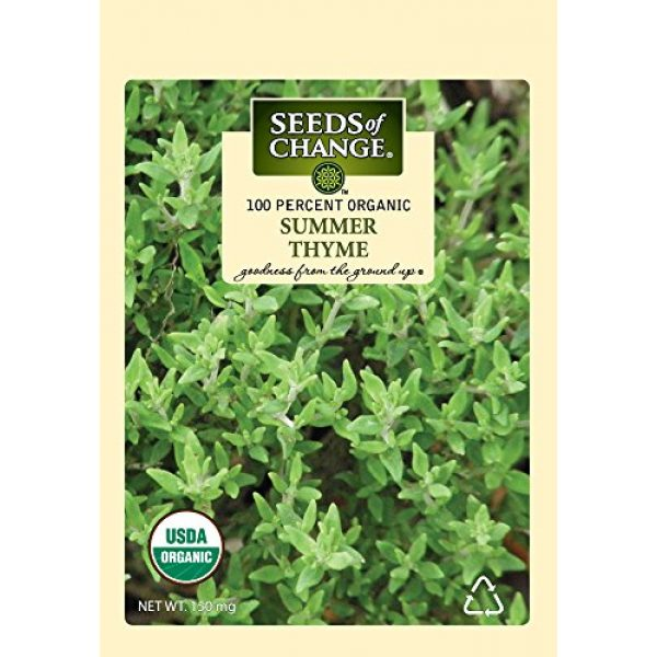 SEEDS OF CHANGE Organic Seed 1 Seeds Of Change 8093 Certified Organic Summer Thyme