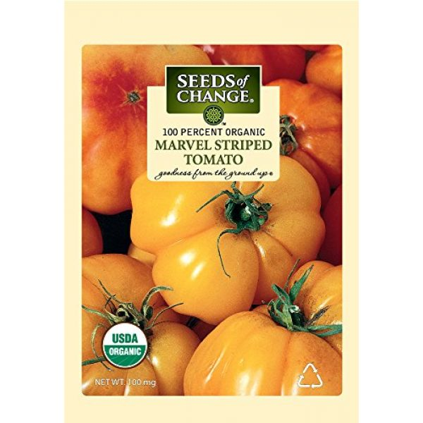 SEEDS OF CHANGE Heirloom Seed 1 Seeds of Change S10768 Certified Organic Marvel Striped Heirloom Tomato