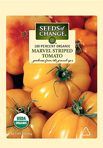 SEEDS OF CHANGE  1 Seeds of Change S10768 Certified Organic Marvel Striped Heirloom Tomato