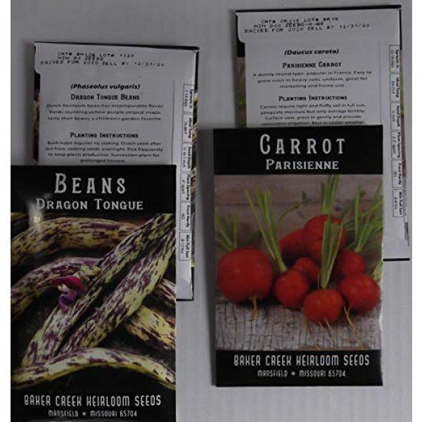 Western Premium Brands Heirloom Seed 4 Baker Creek Heirloom Vegetable Seeds 2020 for Planting Home Garden Variety Pack with Planting Guide Kit - Tomato, Lettuce, Carrot, Peppers, Radish, Peas, Beet, Bush Bean