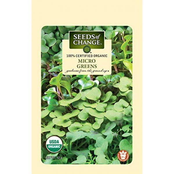 SEEDS OF CHANGE Organic Seed 1 Seeds Of Change 8215 Certified Mild Mix Microgreens, Organic, Seeds, Green