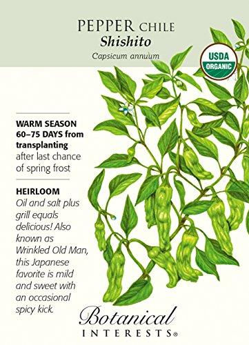Botanical Interests  1 Organic Shishito Chile Pepper - 25 Seeds