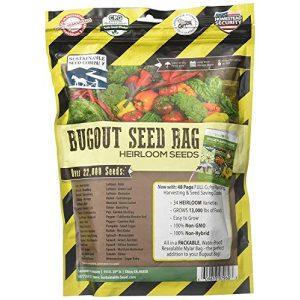 Sustainable Seed Company Heirloom Seed 1 22,000 Non GMO Heirloom Vegetable Seeds, Survival Garden, Emergency Seed Vault, 34 VAR, Bug Out Bag - Beet, Broccoli, Carrot, Corn, Basil, Pumpkin, Radish, Tomato, More