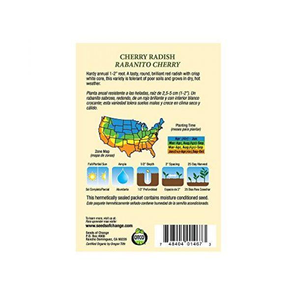 SEEDS OF CHANGE Organic Seed 3 Seeds of Change Certified Organic Cherry Belle Radish