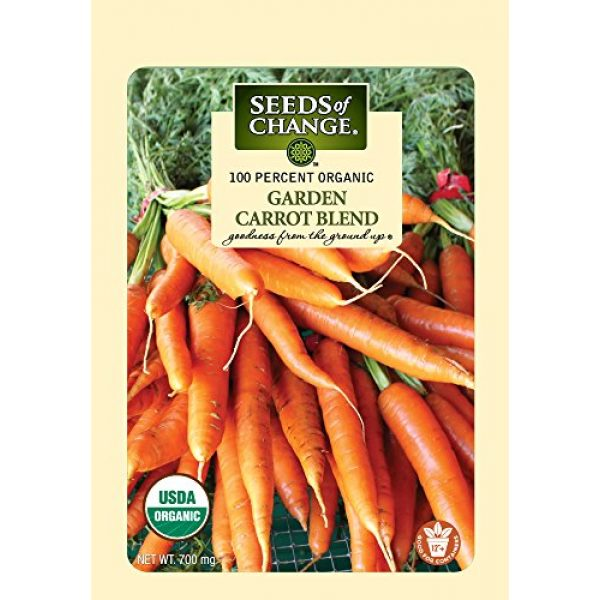 SEEDS OF CHANGE Organic Seed 2 Seeds of Change Certified Organic Garden Carrot Mix