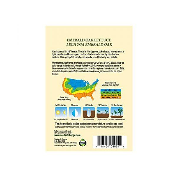 SEEDS OF CHANGE Organic Seed 3 Seeds of Change 04994 Organic Emerald Oak Lettuce