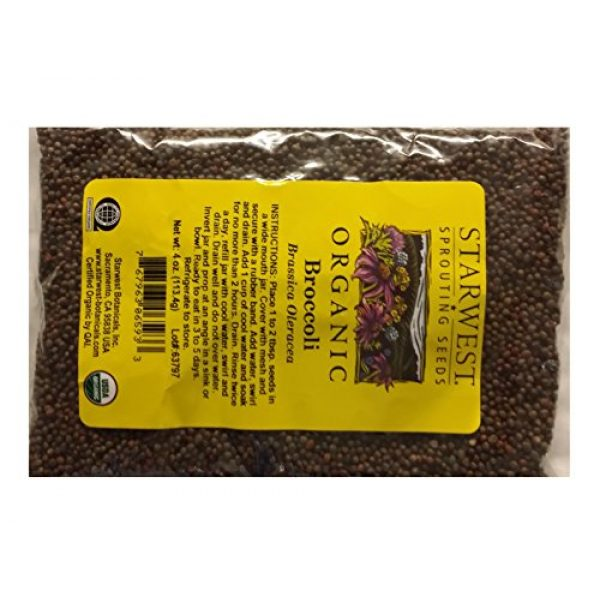 Starwest Botanicals Organic Seed 1 Broccoli Sprouting Seeds Organic - 4 Oz (113 G) - Starwest Botanicals