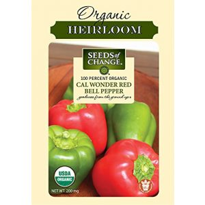 SEEDS OF CHANGE  1 Seeds of Change Certified Organic Cal Wonder Red Bell Pepper