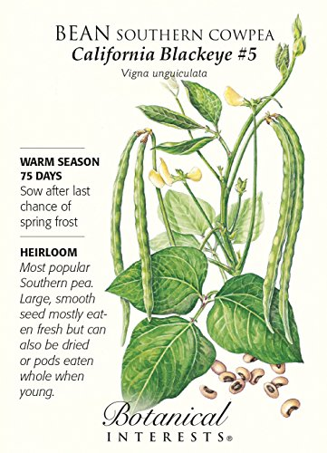 "Botanical Interests  1 Bean ""California Blackeye"" Southern Cowpea Heirloom Seeds"