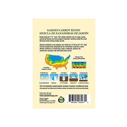 SEEDS OF CHANGE  3 Seeds of Change Certified Organic Garden Carrot Mix