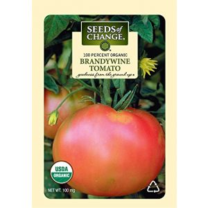 SEEDS OF CHANGE  1 Seeds of Change S10766 Certified Organic Brandywine Heirloom Tomato