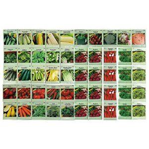 Black Duck Brand Heirloom Seed 1 50 Packs Assorted Heirloom Vegetable Seeds 20+ Varieties All Seeds are Heirloom, 100% Non-GMO