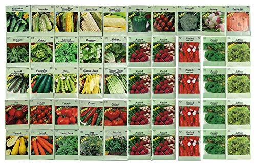 Black Duck Brand  1 50 Packs Assorted Heirloom Vegetable Seeds 20+ Varieties All Seeds are Heirloom