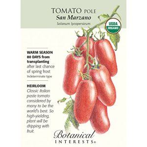 "Botanical Interests Organic Seed 1 ""San Marzano"" Organic Tomato Seeds"