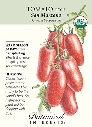 "Botanical Interests  1 ""San Marzano"" Organic Tomato Seeds"