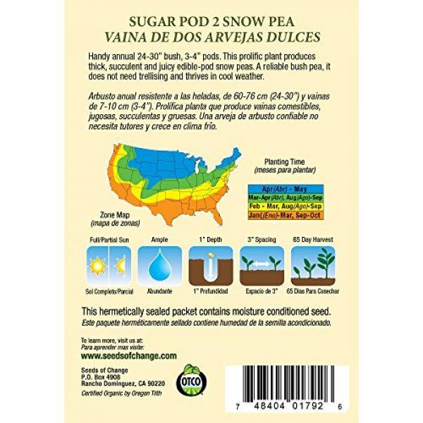 SEEDS OF CHANGE Organic Seed 2 Seeds of Change Certified Organic Seed, Sugar Pod 2 Snow Pea